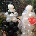 בובות בלונים - חתן וכלה